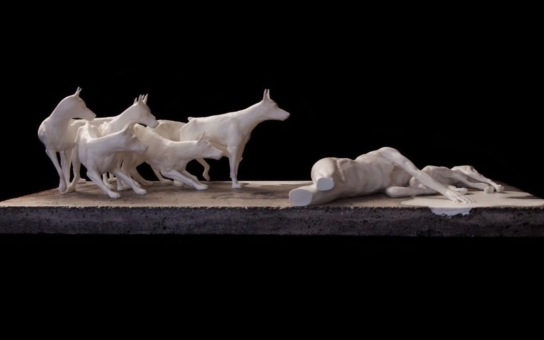 Entre chiens et loup | Sculpture 3D